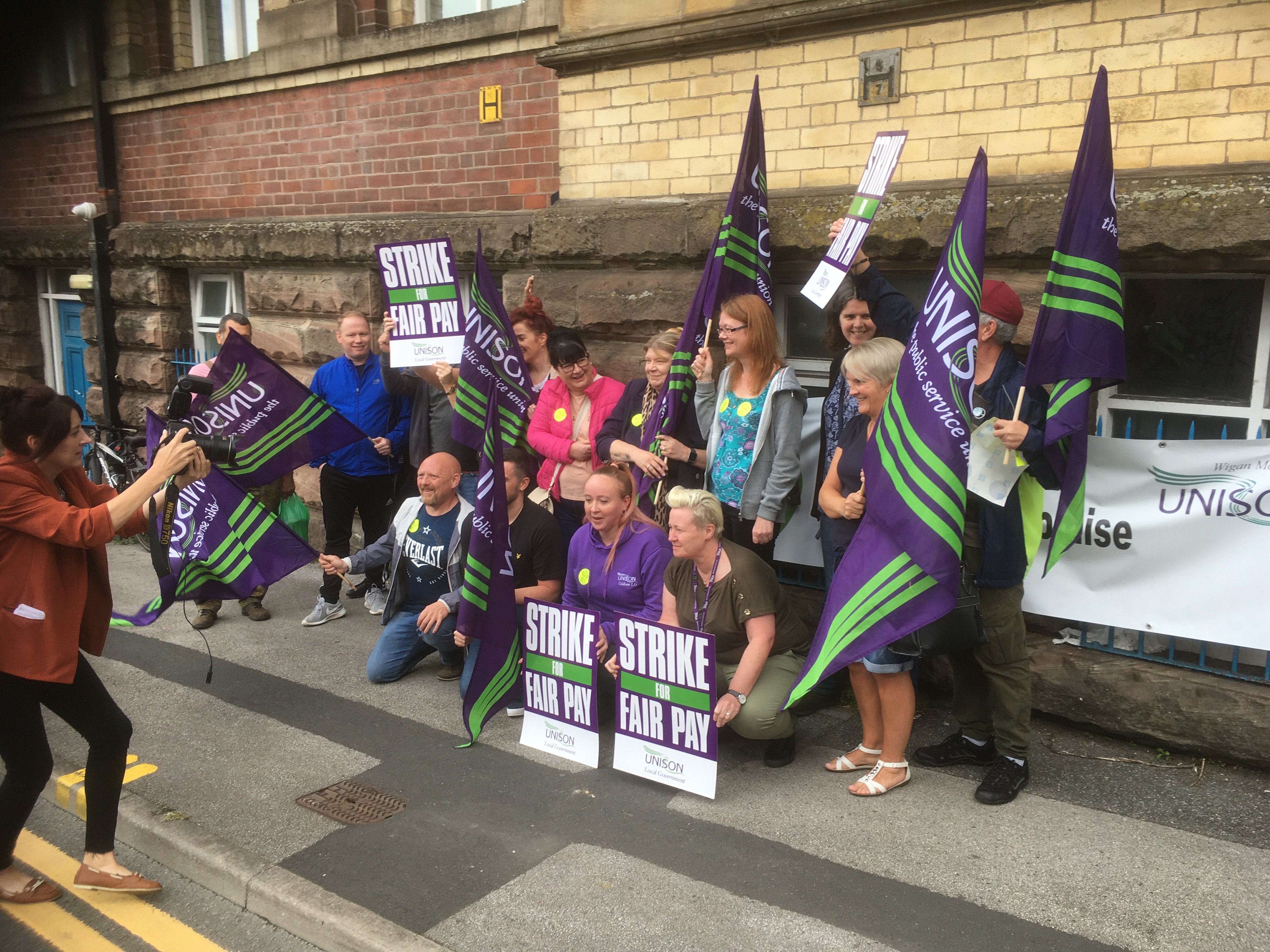 ADDACTION workers strike in Wigan